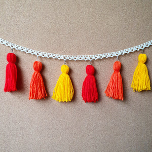 Sunset Sky Tassel Garland