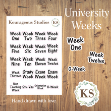 Academic Week Stickers