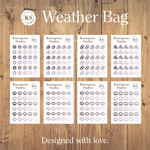 Weather Stickers Bag