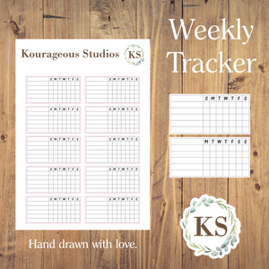 Weekly Tracker Stickers