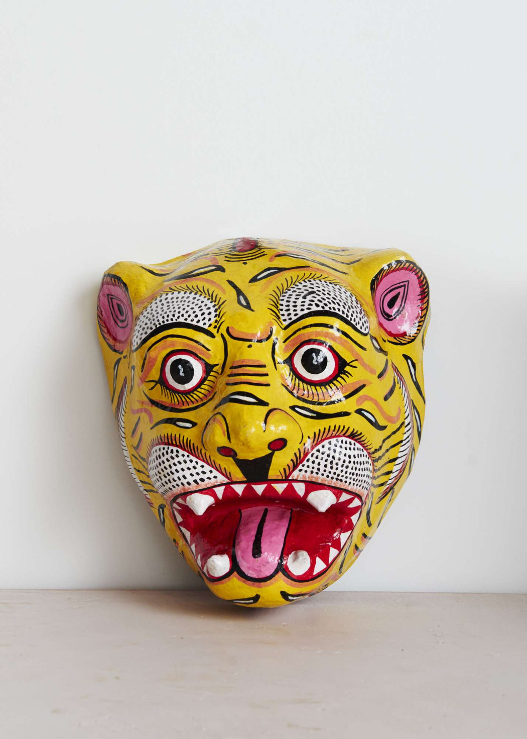 This is a shop, mask, tiger, unique, interior, India