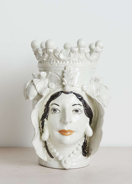 This is a shop, vase, face, italy, ceramic, decoration, home, interior, unique