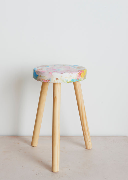 Stool recycled plastic
