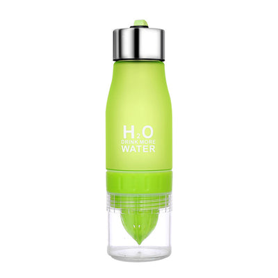 H2O® 650ml Water Bottle With Fruit/Vegetable Squeezer