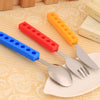 Snack & Stack Brick Cutlery Set For Kids