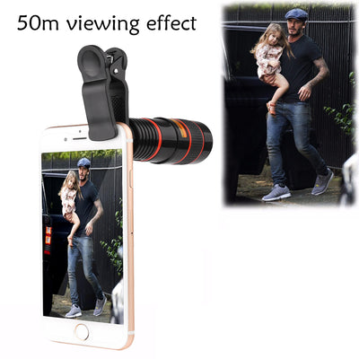 Clip-On Smartphone Scope Lens with a 8X Zoom