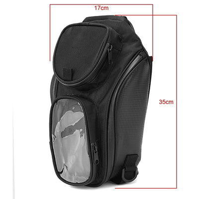 Motorcycle Tank Bag - Waterproof Magnetic Saddle Black Motorbike Bag