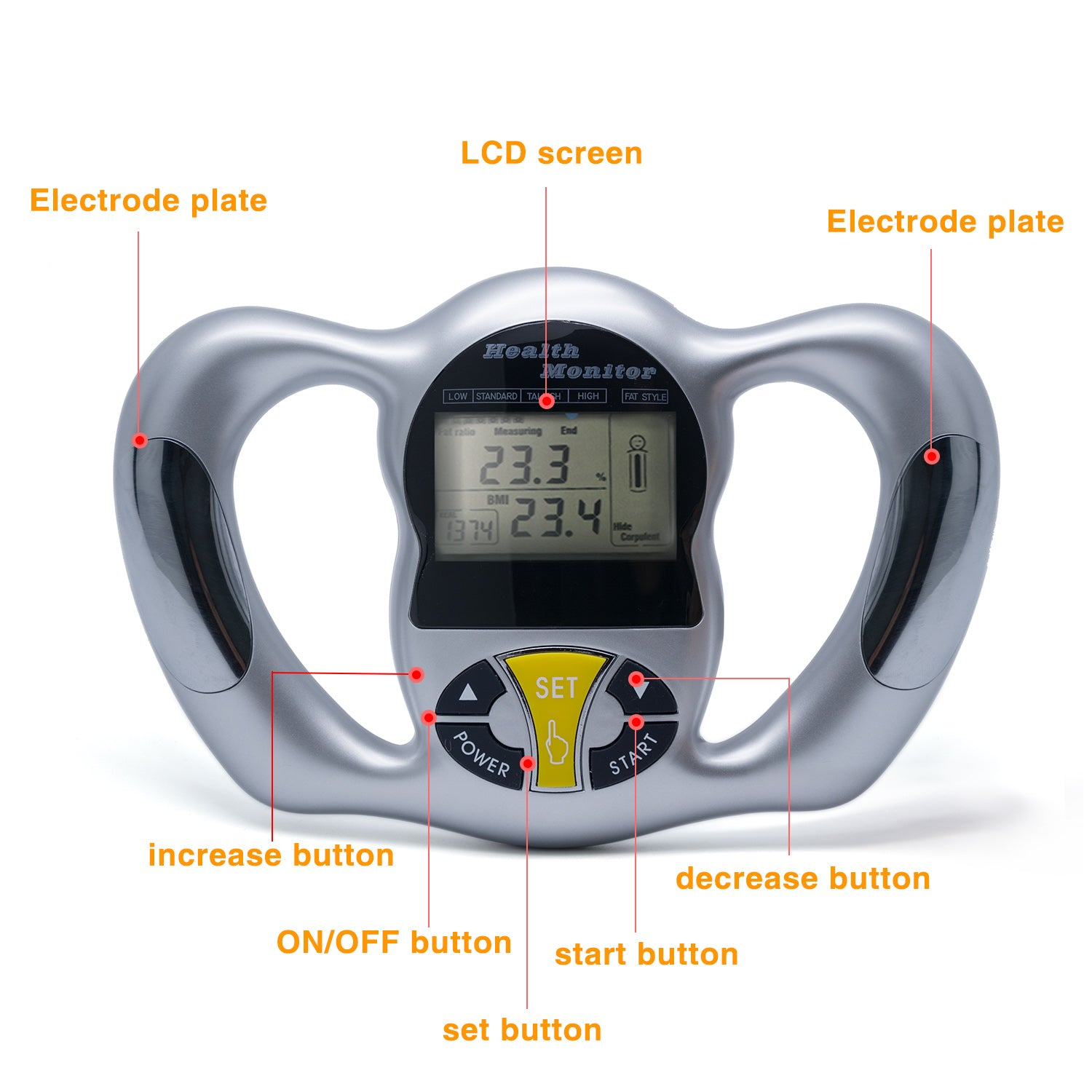 health monitor body fat analyzer monitor bmi meter weight loss