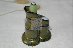 Ceramic Backflow  Censer - Bamboo