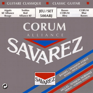 Savarez 500ARJ Alliance Normal Tension/Corum High Tension Classical Guitar Strings, Full Set - Dulcet Guitars
