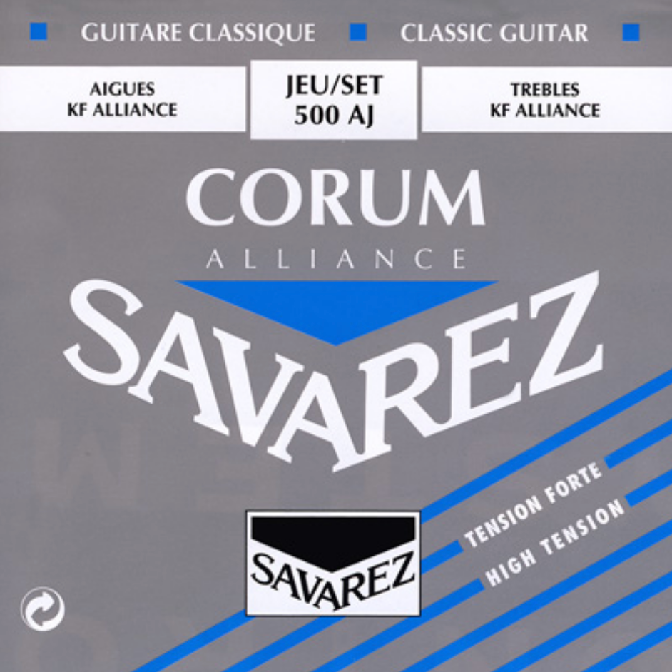 Savarez 500AJ Alliance/Corum High Tension Classical Guitar Strings, Full Set - Dulcet Guitars