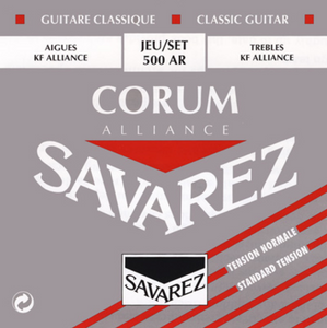 Savarez 500AR Alliance/Corum Normal Tension Classical Guitar Strings, Full Set - Dulcet Guitars