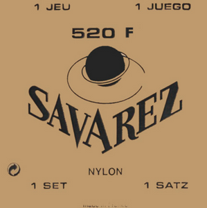 Savarez 520F Wound 3rd/Red Card Basses HT Guitar Strings, Full Set