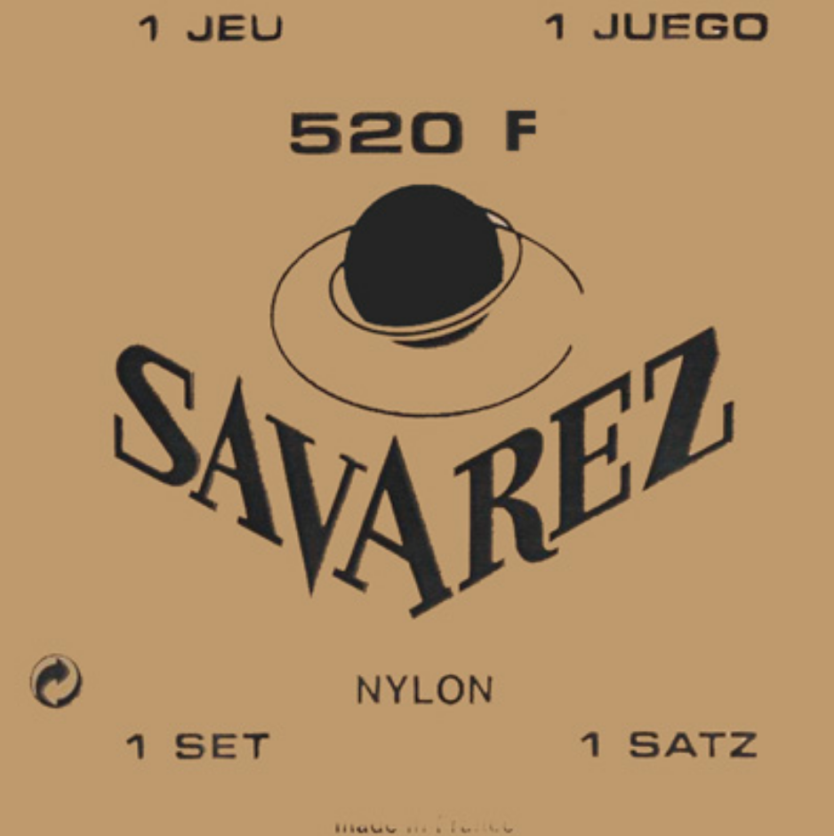 Savarez 520F Wound 3rd/Red Card Basses HT Guitar Strings, Full Set - Dulcet Guitars