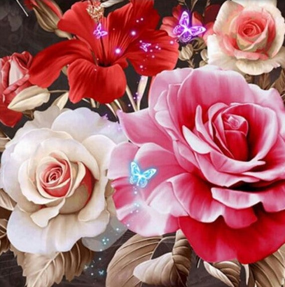 Butterfly Rose - 5D Diamond Painting Kit