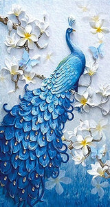 Peacock Flowers - Special Shaped 5D Diamond Painting Kit