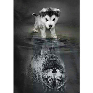 dog to wolf 5D Diamond Painting
