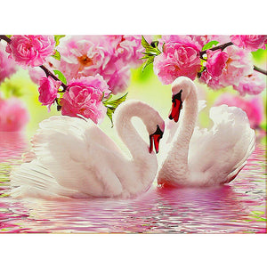Swans In Love 5D Diamond Painting