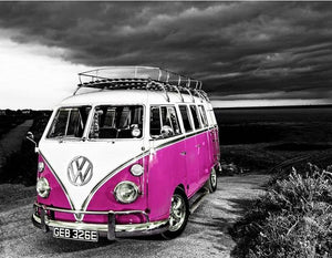 Pink VW - 5D Diamond Painting Kit