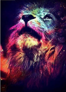 Lion in the Sky - 5D Diamond Painting Kit