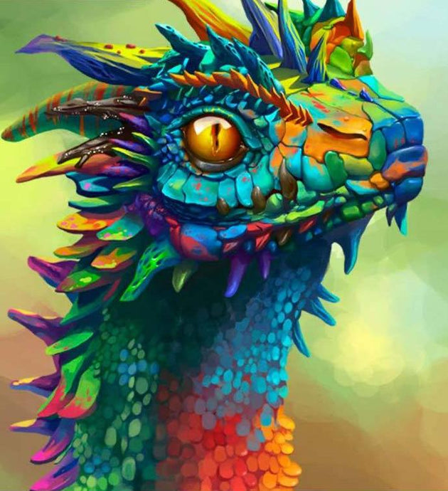 Colour Dragon - 5D Diamond Painting Kit