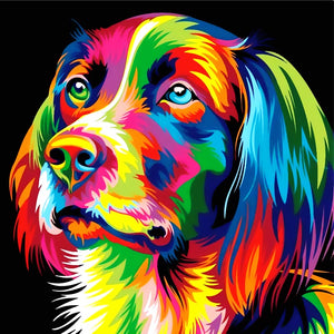Abstract Dog 5D Diamond Painting