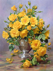 Yellow Flowers of Love 5D Diamond Painting