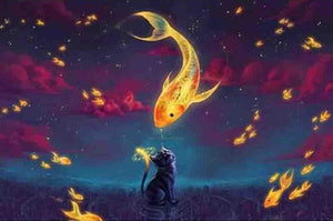Dreaming of Fish - 5D Diamond Painting Kit