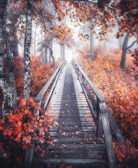 Autumn Bridge - 5D Diamond Painting Kit