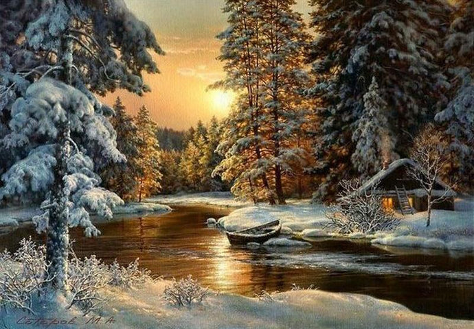 Winter Lake - 5D Diamond Painting Kit