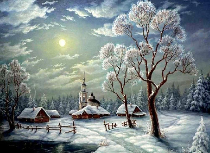 Winter Home - 5D Diamond Painting kit
