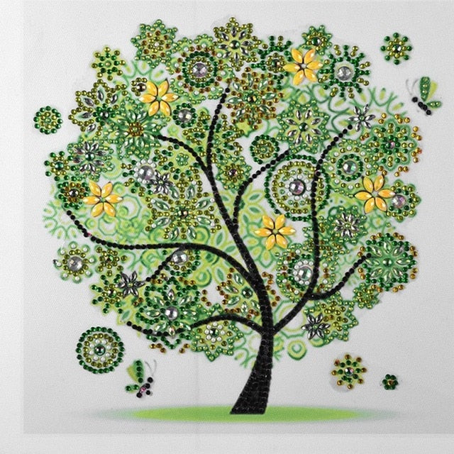 Green Tree - Special Shaped 5D Diamond Painting Kit