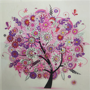 Pink Tree - Special Shaped 5D Diamond Painting Kit