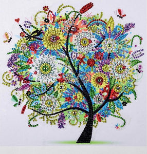 Colourful Tree - Special Shaped 5D Diamond Painting Kit
