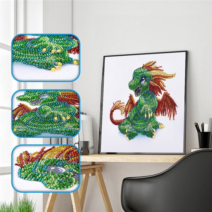 Cartoon Dragoon - Special Shaped 5D Diamond Painting Kit
