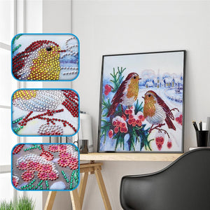Christmas Robin - Special Shaped 5D Diamond Painting Kit