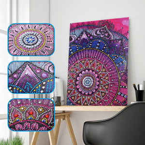 Pink Mandala - Special Shaped 5D Diamond Painting kit