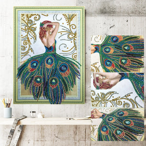 Peacock Dress - Special Shaped 5D Diamond Painting Kit