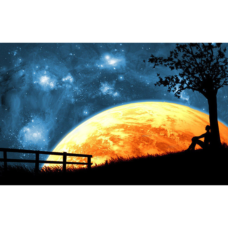 Alone With The Moon - 5D Diamond painting Kit