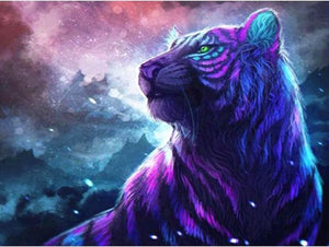 Cosmic Tiger - 5D Diamond Painting Kit