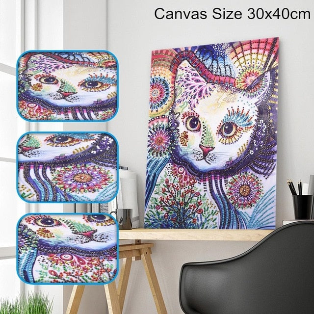 Cat - Special Shaped 5D Diamond Painting Kit