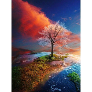 Tree At The End Of The World - 5D Diamond Painting kit