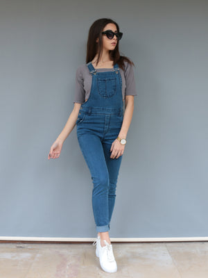 Denim Skinny Pantolon Salopet