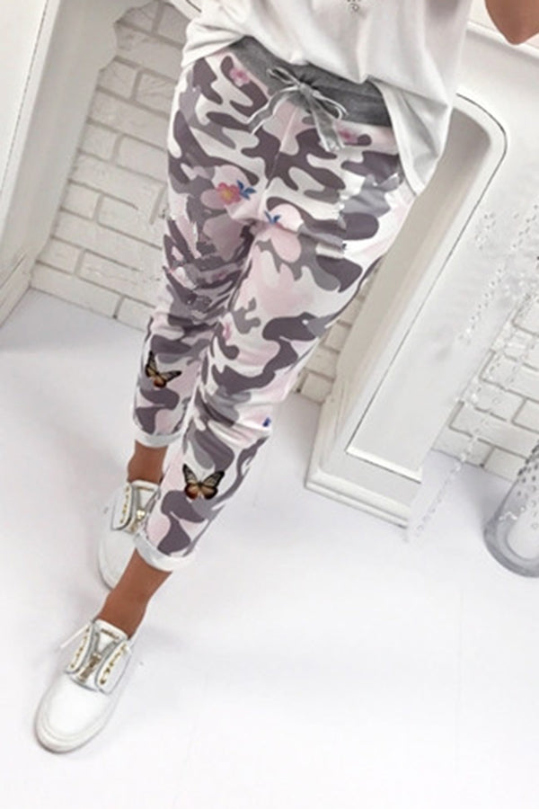 Camouflage Printed Casual Bottom