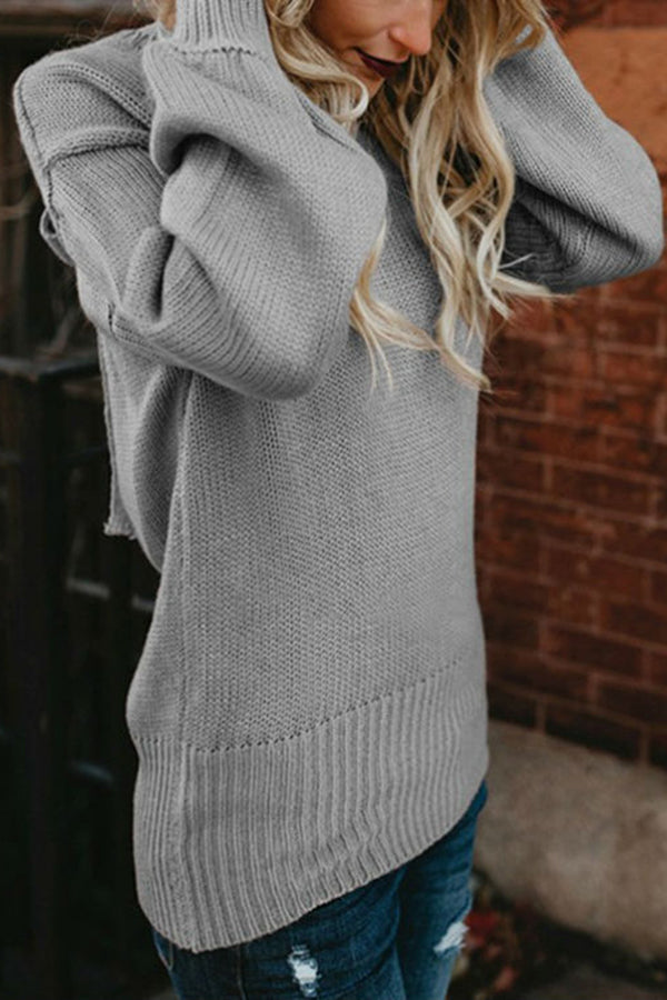 Contracted Style Bowknot Back Solid Color Sweater