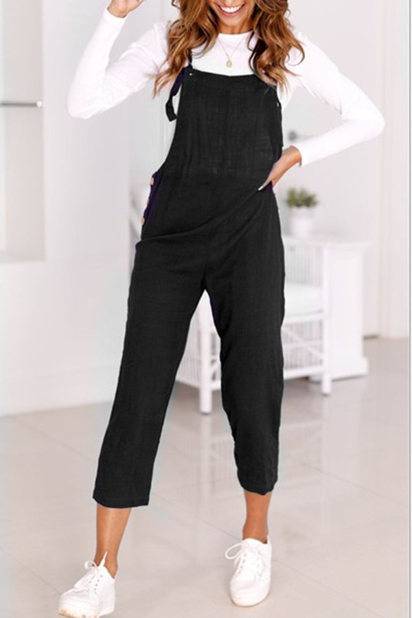 Fashion Pocket Casual Jumpsuit