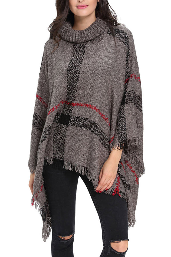 Fashion Tassel Loose Turtleneck Sweater