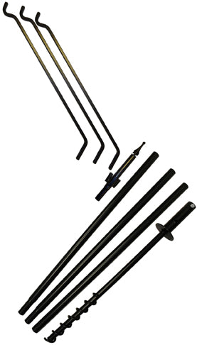 Extended Reach Bird Feeder Hanger Pole Set