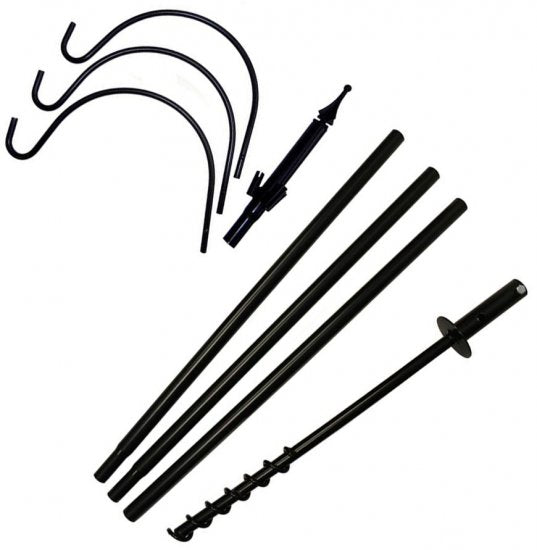 5 Piece Metal Feeder Pole Set With 3 Hangers
