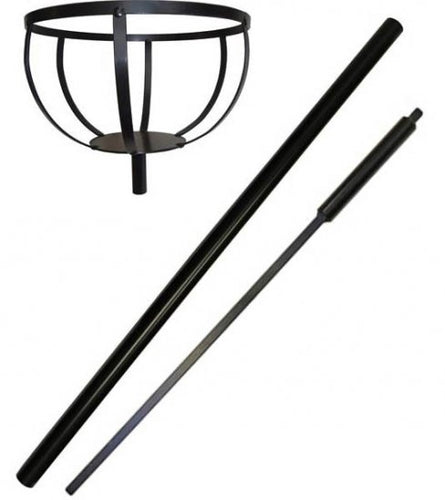 Plant Basket Pole With Ground Anchor Stake